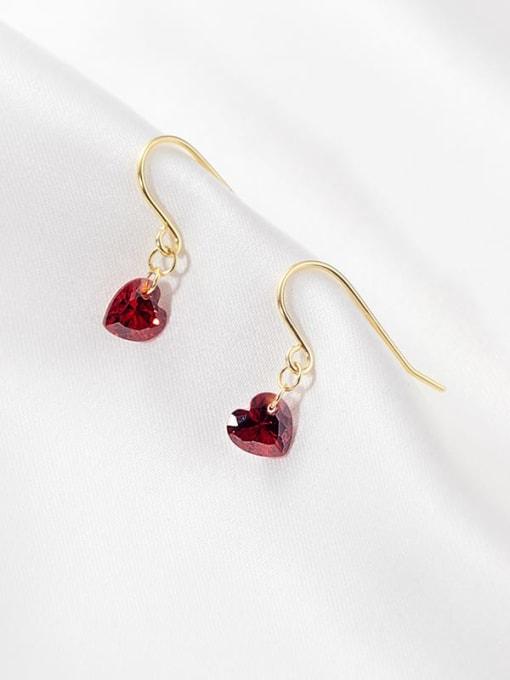 Rosh 925 Sterling Silver Heart Minimalist Hook Earring 0