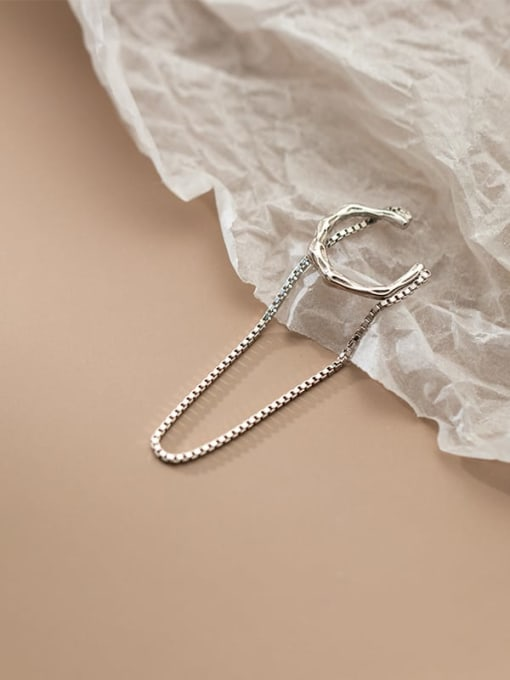 Rosh 925 Sterling Silver Geometric Minimalist Threader Earring 1
