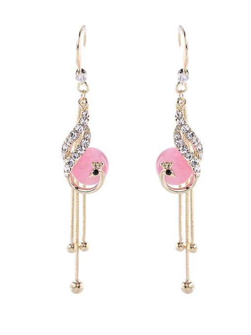 Luxu Brass Cubic Zirconia Tassel Trend Hook Earring