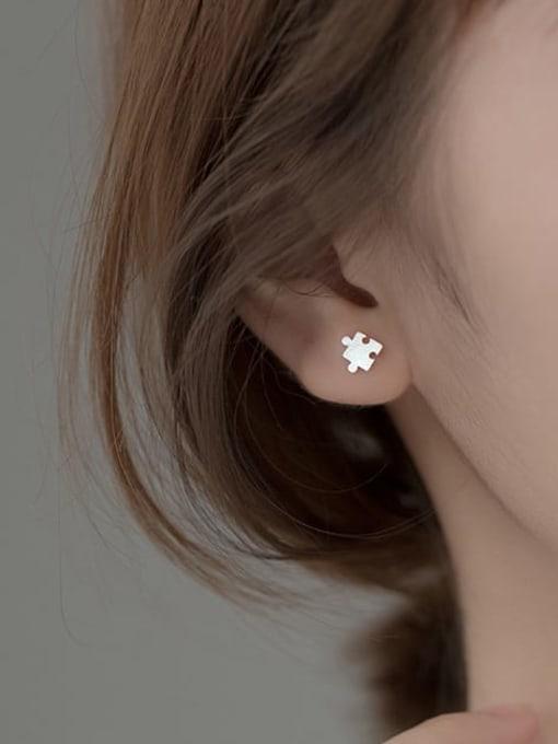 Rosh 925 Sterling Silver Geometric Minimalist Stud Earring 2