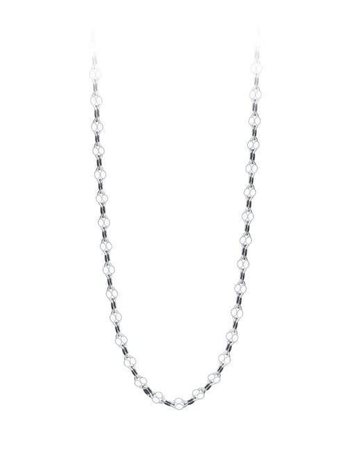 Rosh 925 Sterling Silver Round Minimalist Twisted Serpentine Chain 3