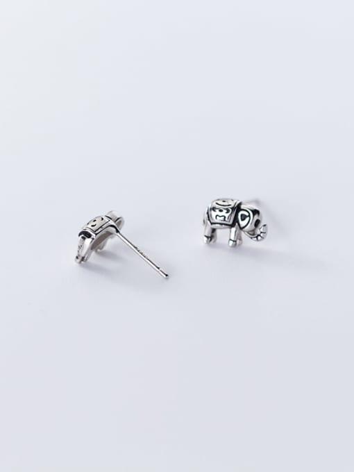 Rosh 925 Sterling Silver Elephant Vintage Stud Earring 3
