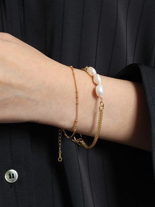 DAKA 925 Sterling Silver Irregular Minimalist Link Bracelet 3