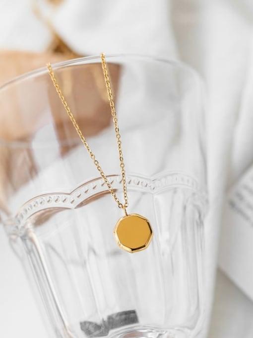 A TEEM Titanium Steel Hexagon Minimalist Necklace