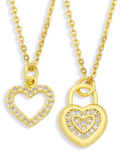 CC Brass Cubic Zirconia Moon Minimalist Necklace 0