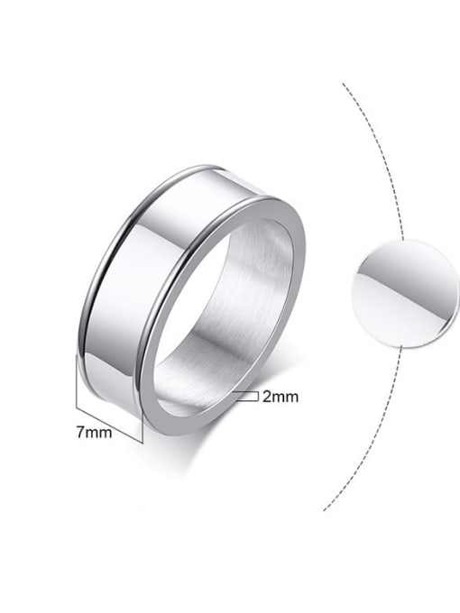 CONG Stainless steel Smooth Geometric Minimalist Band Ring 2
