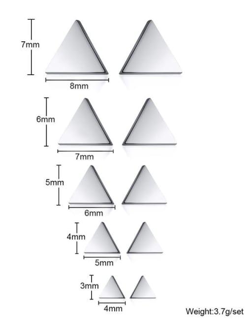CONG Titanium Steel Triangle Minimalist Stud Earring 2