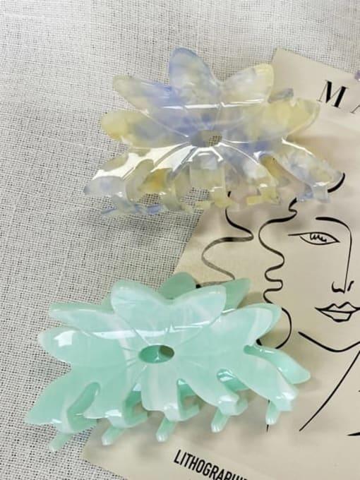 HUIYI Acrylic Minimalist Hollow Flower Jaw Hair Claw 3