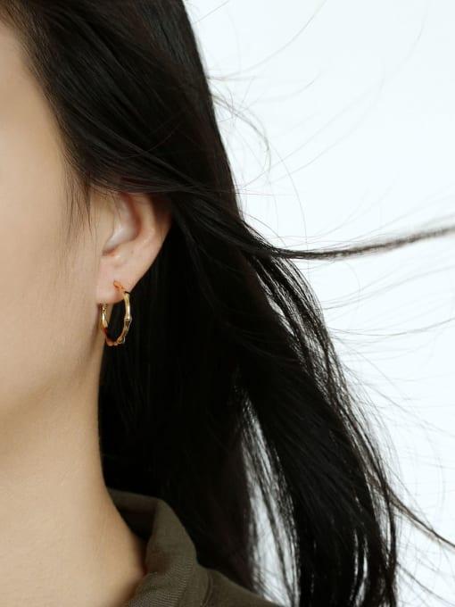 CHARME Brass Smooth  Geometric Minimalist Hoop Earring 1