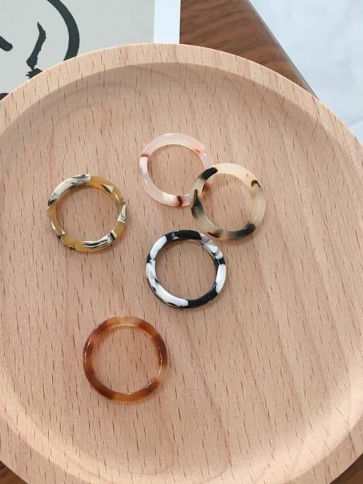 Chimera Cellulose Acetate Geometric Minimalist  men and women Melange ring 2