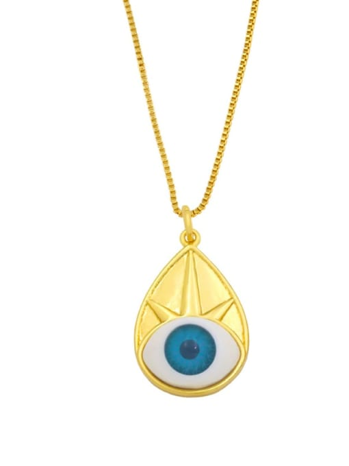 CC Brass Cubic Zirconia Evil Eye Vintage Necklace 2