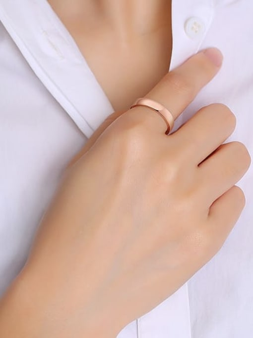 CONG Titanium Steel Round Minimalist Band Ring 1