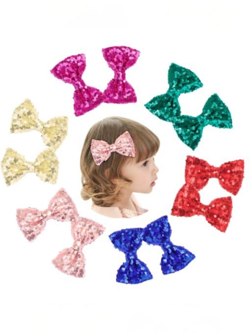 YOKI KIDS Alloy Fabric Cute Bowknot  Multi Color Hair Barrette