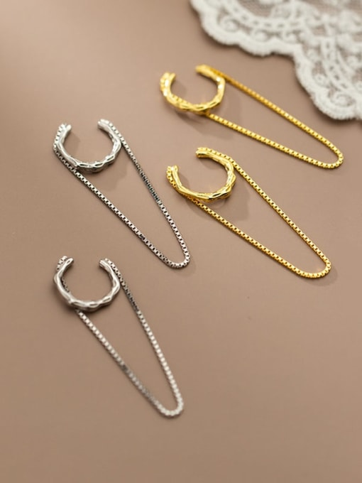 Rosh 925 Sterling Silver Geometric Minimalist Threader Earring 2
