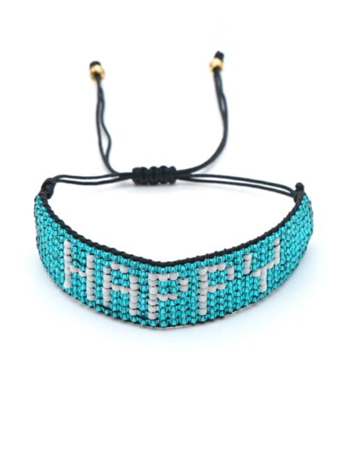 Roxi Multi Color MGB Bead Letter Bohemia Adjustable Bracelet 1