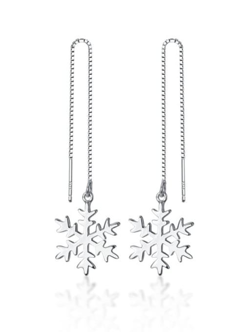 Rosh 925 Sterling Silver Flower Minimalist Threader Earring 0