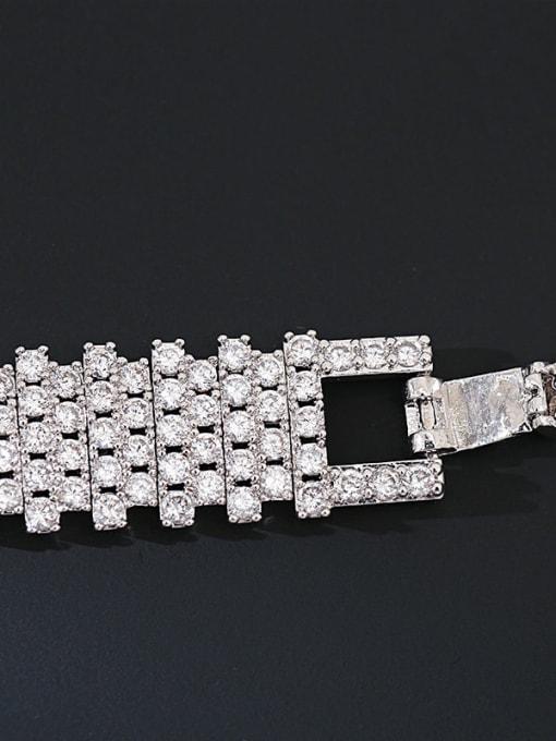 DUDU Brass Cubic Zirconia Geometric Luxury Bracelet 3