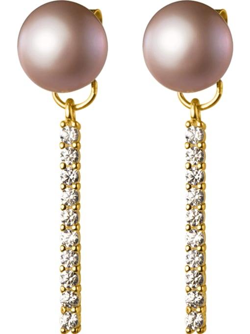 Rosh 925 Sterling Silver Imitation Pearl Tassel Minimalist Drop Earring 3