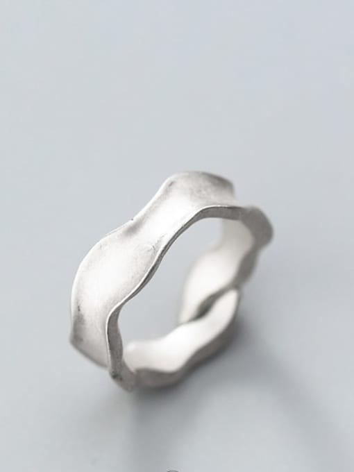 Rosh 925 Sterling Silver Smooth Irregular Vintage Free Size Ring 2