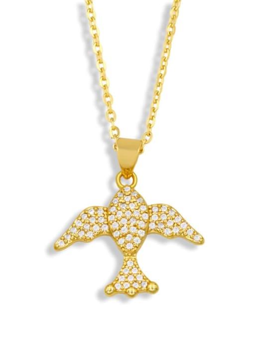 CC Brass Cubic Zirconia Fish Vintage Necklace 2