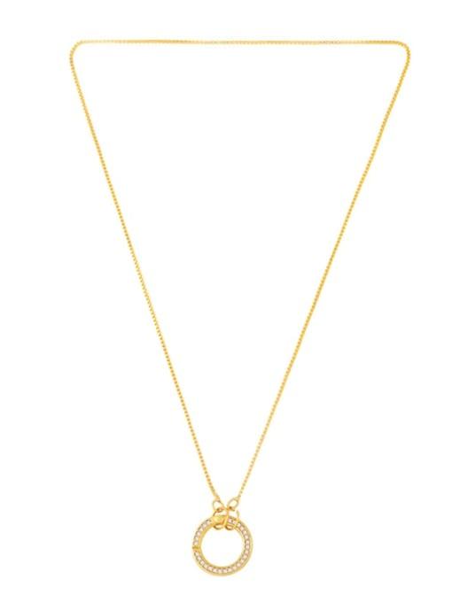 CC Brass Cubic Zirconia Irregular Vintage Necklace 4