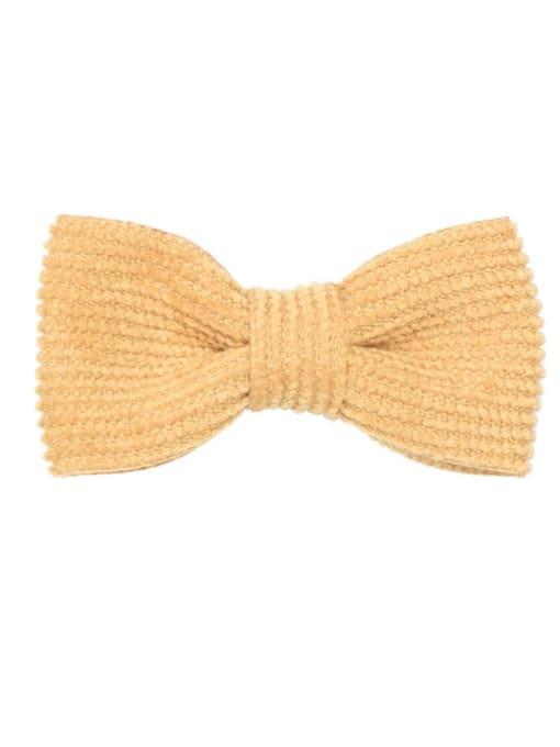 5 gingko yellow Alloy Fabric Cute Bowknot  Multi Color Hair Barrette