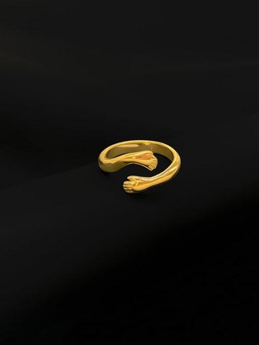 A TEEM Titanium Steel Irregular Minimalist Band Ring 3