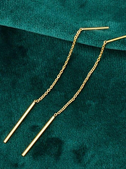 A TEEM Titanium Tassel Minimalist Threader Earring