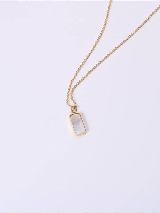 GROSE Titanium Steel Shell Geometric Minimalist Necklace 2