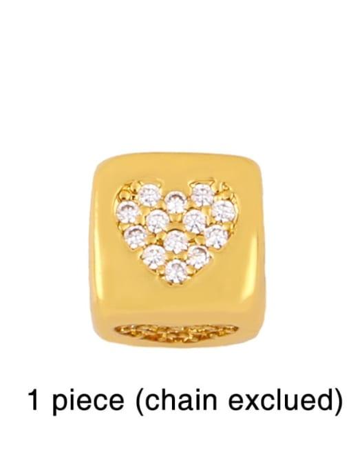 love Brass Cubic Zirconia square Letter Minimalist Adjustable Bracelet