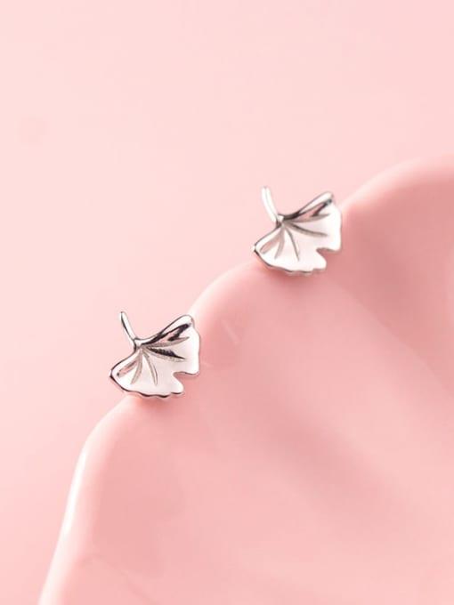 Rosh 925 Sterling Silver Leaf Minimalist Stud Earring 3