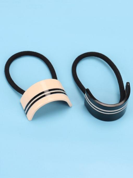 HUIYI Cellulose Acetate Minimalist Geometric Hair Rope