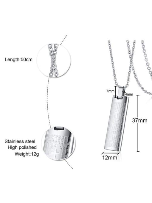CONG Titanium Steel Geometric  Letter Minimalist Necklace 2