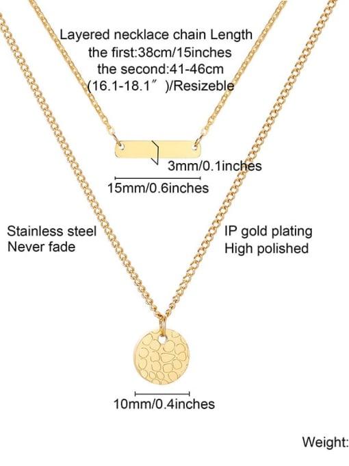 CONG Titanium Steel Geometric Minimalist Multi Strand Necklace 2
