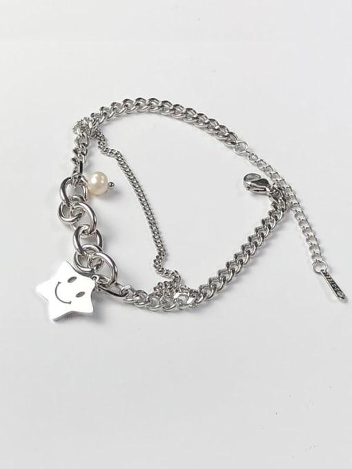CONG Titanium Steel Geometric Minimalist Link Bracelet