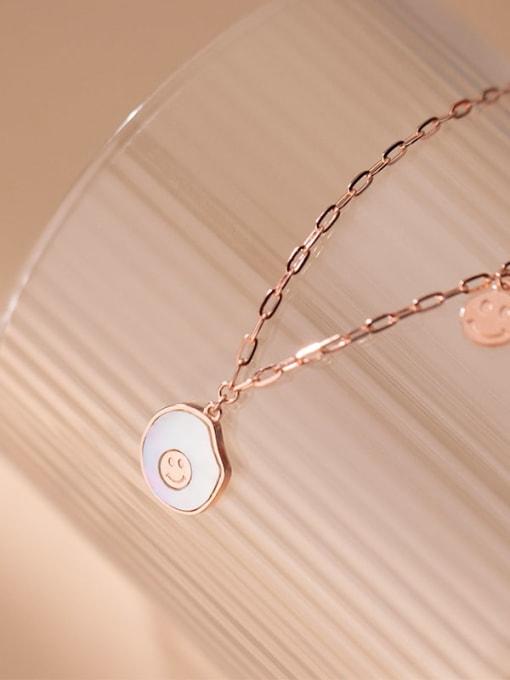 Rosh 925 Sterling Silver Shell Geometric Minimalist Necklace 2