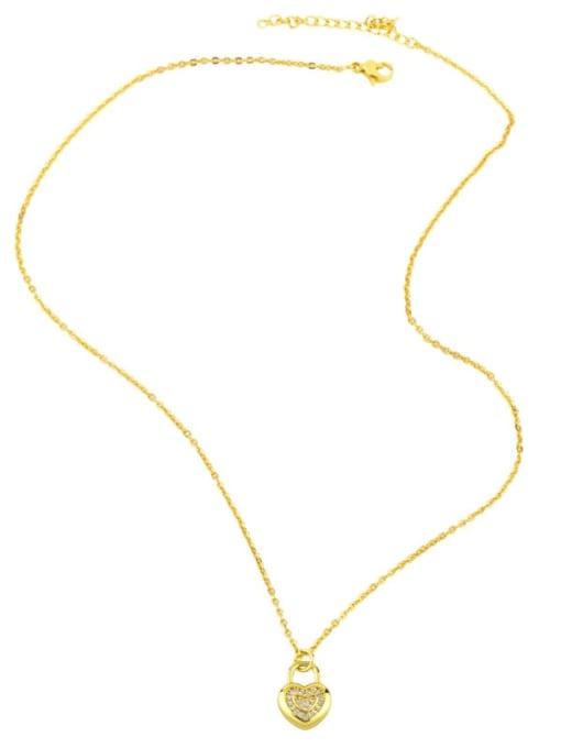 CC Brass Cubic Zirconia Moon Minimalist Necklace 4
