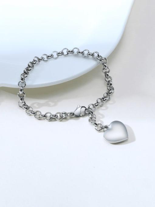 CONG Titanium Steel Heart Vintage Link Bracelet 4