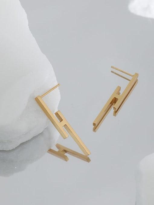 DAKA 925 Sterling Silver Smooth Geometric Minimalist Stud Earring 3