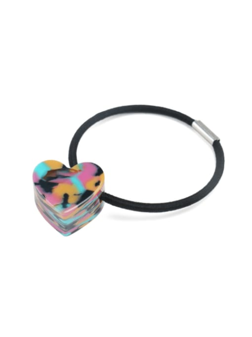 Dazzling color Cellulose Acetate Minimalist Heart Hair Rope