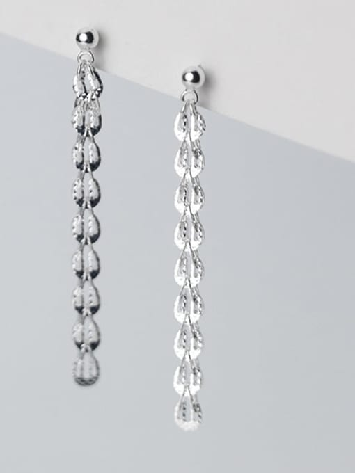Rosh 925 Sterling Silver Tassel Minimalist Threader Earring 0
