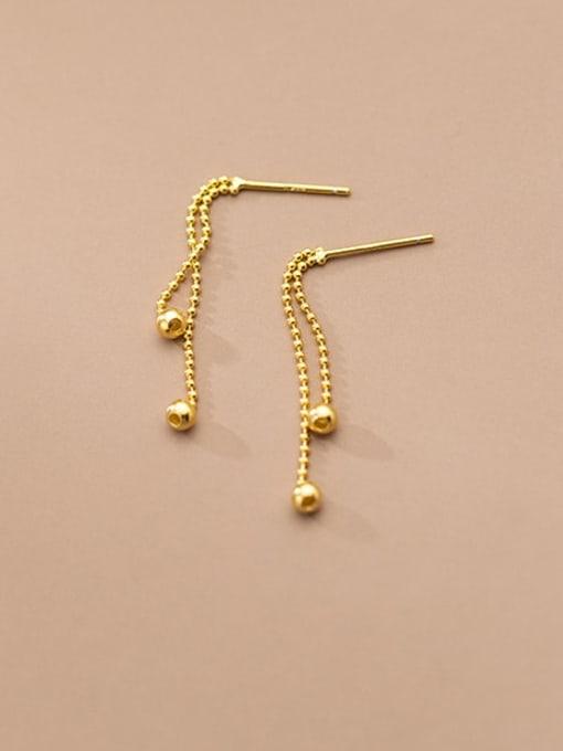 Rosh 925 Sterling Silver Bead Tassel Minimalist Threader Earring