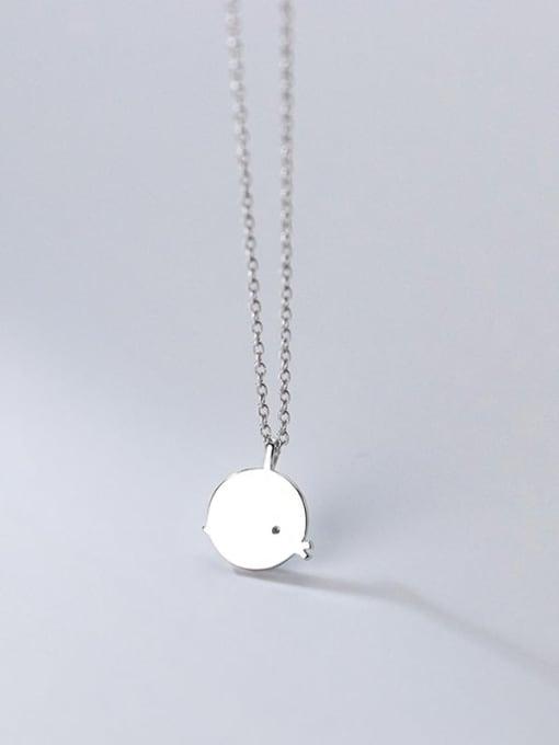Rosh 925 Sterling Silver Enamel Round Minimalist Necklace 3