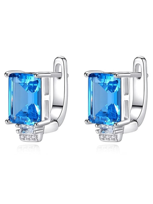 CCUI Chicago Style 925 Sterling Silver Cubic Zirconia Geometric Luxury Stud Earring 3