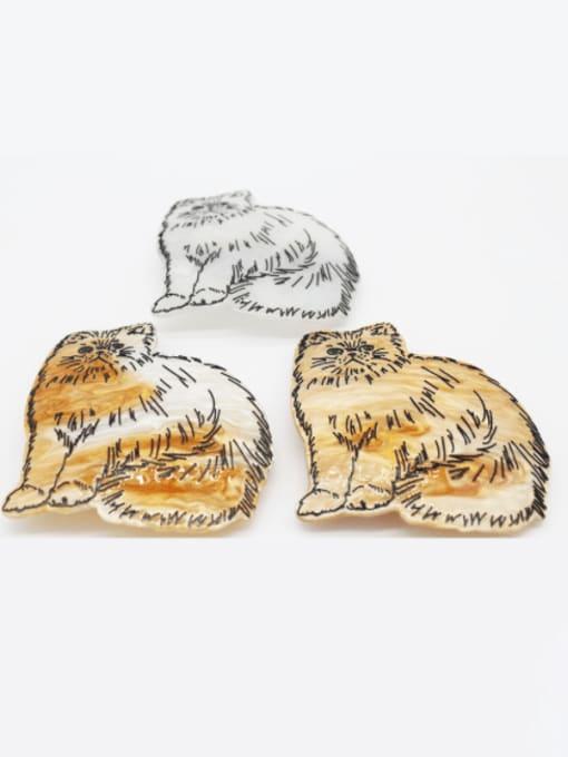 HUIYI Cellulose Acetate Cute Tiger Zinc Alloy Spring  Hair Barrette