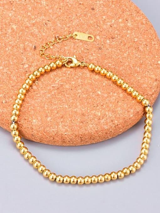 A TEEM Titanium Bead Round Minimalist Beaded Bracelet 4