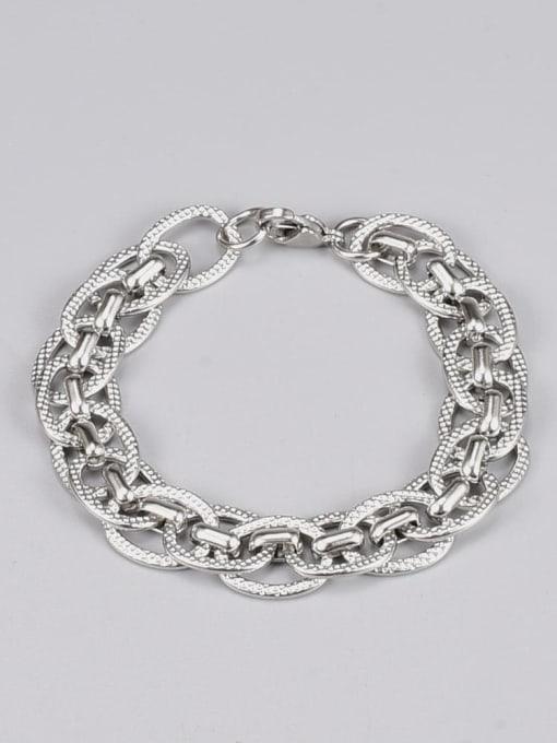 A TEEM Titanium Steel Irregular Vintage Link Bracelet 0