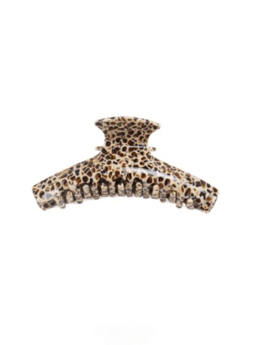 Brown Leopard Print Cellulose Acetate Minimalist Geometric Zinc Alloy Jaw Hair Claw