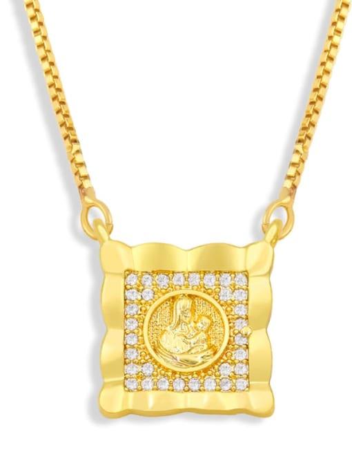 CC Brass Cubic Zirconia Religious Vintage Necklace 1
