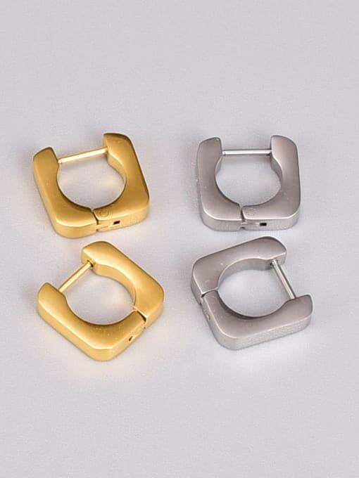 A TEEM Titanium Steel Square Minimalist Huggie Earring